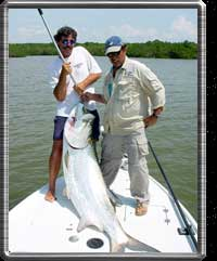 After a long battle this big tarpon is ready to be released.